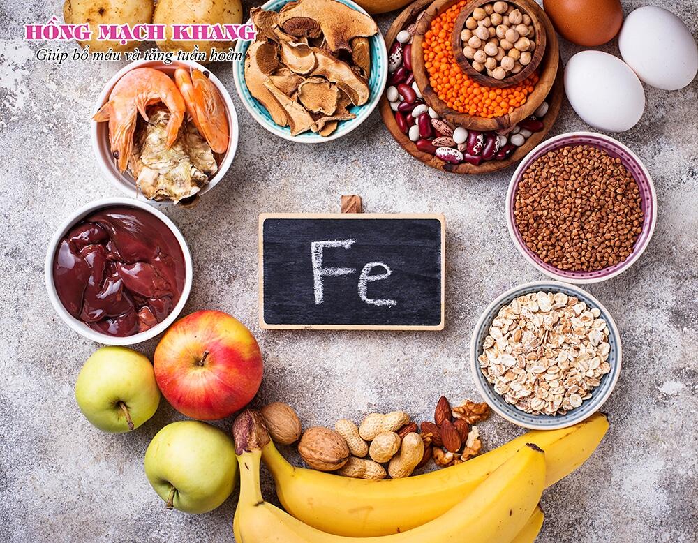 Khi bị thiếu máu nên bổ sung sắt kết hợp với chế độ ăn uống